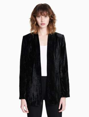 Calvin Klein luxe crushed velvet suit jacket