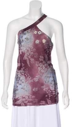 Chloé Silk One-Shoulder Top