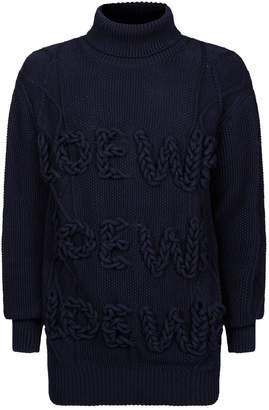 Loewe Logo Knit Turtleneck Sweater