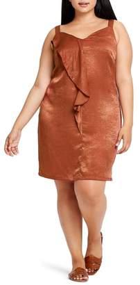 ELVI En Arriere Drape Detail Camisole Dress