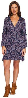 Rock and Roll Cowgirl Bell Sleeve Dress D4-4750 Women's Dress