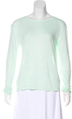 Alexander Wang Linen Long Sleeve Top