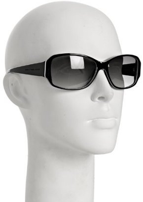 Marc by Marc Jacobs black white trim rectangular sunglasses