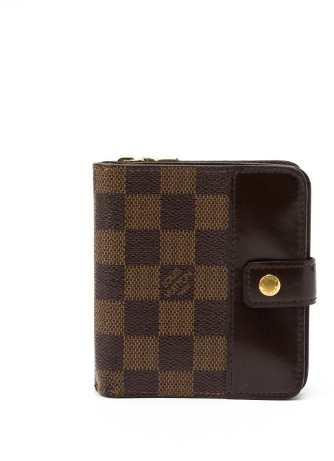 Louis Vuitton Pre-owned: brown damier ebene canvas french wallet