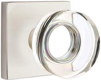 Rejuvenation Crystal Disk Knob with Square Backplate