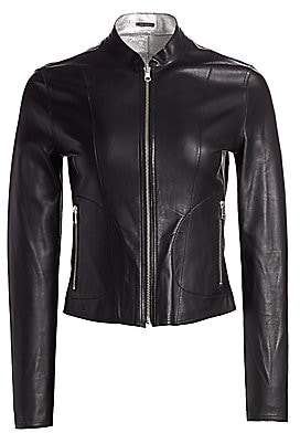 LAMARQUE Women's Chapin Reversible Leather Bomber