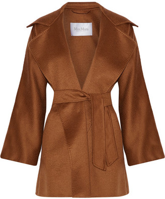 Max Mara - Gas Cashmere Wrap Coat - Brown $4,690 thestylecure.com