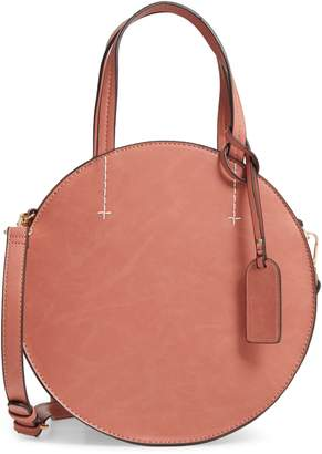 Sole Society Palermo Canteen Faux Leather Circle Crossbody Bag