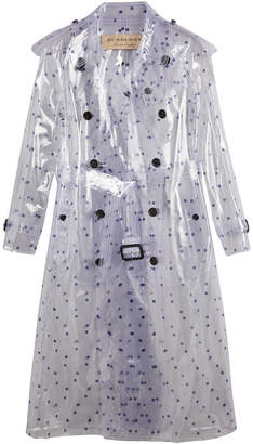 polka-dot plastic trench coat