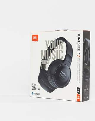 JBL T600 bluetooth noise cancelling on-ear headphones in black