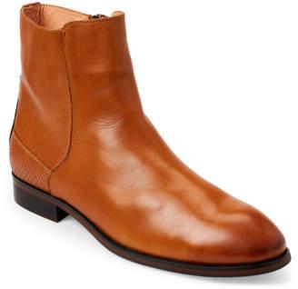 Zanzara Cognac & Black Kahlo Leather Chelsea Boots