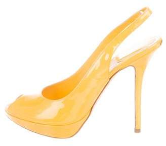 Christian Dior Patent Leather Slingback Pumps