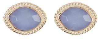 Anna Beck Blue Chalcedony Marquise Stud Earrings