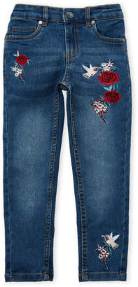 Betsey Johnson Girls 4-6x) Floral Embroidered Skinny Jeans