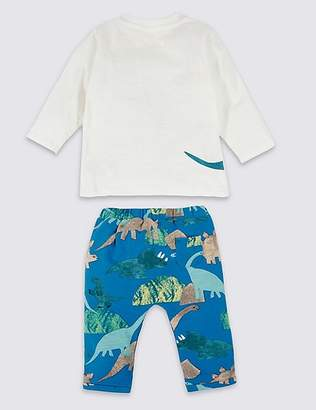 Marks and Spencer 2 Piece Dinosaur Top with Joggers Outfit