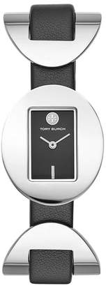 Tory Burch Jacques Leather Strap Watch, 28mm x 33mm