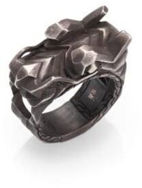 John Hardy Naga Silver Dragon Head Ring