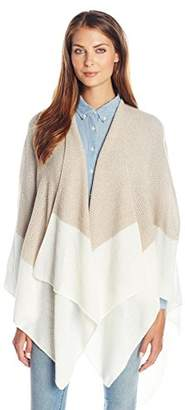 Collection XIIX Women's Marled Knit Border Ruana $68 thestylecure.com