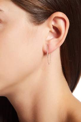 Candela 14K Yellow Gold CZ Bar & Chain Earrings