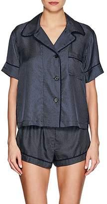 Araks Women's Shelby Silk Pajama Top - Dk. Blue