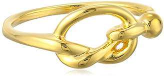 14k Over Sterling Silver Love Knot Ring