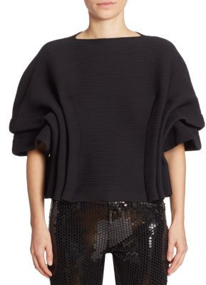 Junya Watanabe Ruched Boatneck Top $955 thestylecure.com