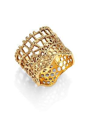 Aurelie Bidermann Women's Vintage Lace Ring/Goldtone