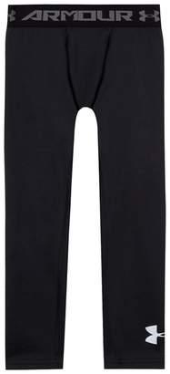 Under Armour Childrens' Black Logo Print Leggings