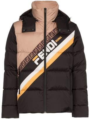 Fendi Mania feather down padded coat