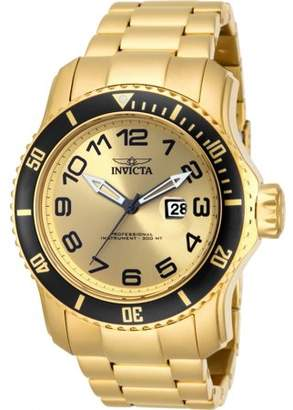 Invicta Men's 48mm Pro Diver Quartz Gold Stainless Steel Watch-15350
