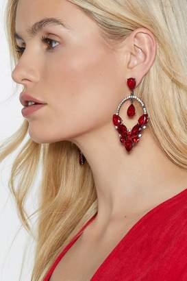 Nasty Gal Raining Diamonds Drop Earrings