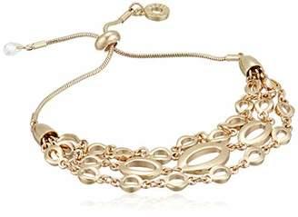 Anne Klein Women's Tone Slider Bracelet