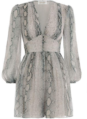 Zimmermann Corsage Fluted Playsuit