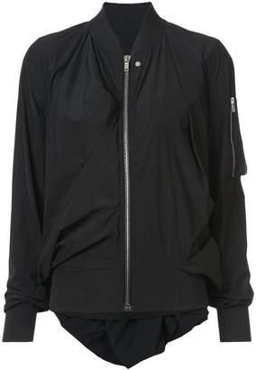 Rick Owens gathered bomber jacket