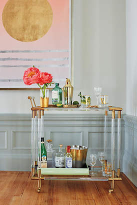 Anthropologie Oscarine Lucite Bar Cart