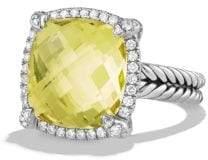 David Yurman Chatelaine Pave Bezel Ring With Black Onyx And Diamonds,