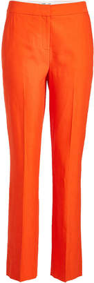 Diane von Furstenberg Tailored Pants with Linen and Cotton