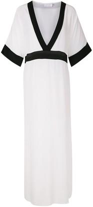 BRIGITTE silk long dress