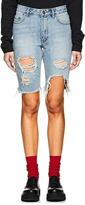 Ksubi Women's App-Laye Long Distressed Denim Shorts