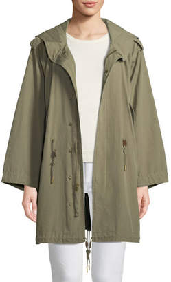 Ralph Lauren Collection Zip-Front Hooded Cotton Parka Jacket
