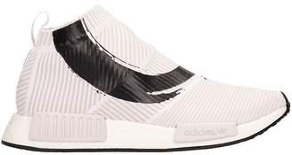 adidas White Fabric Sneakers Nmd_cs1 In White Fabric