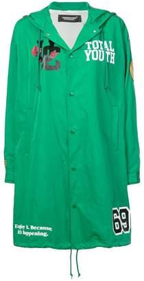 Undercover logo patch coat