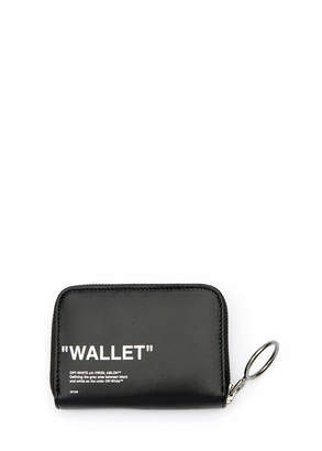 Off-White Off White Quote Medium Grained Zip Wallet