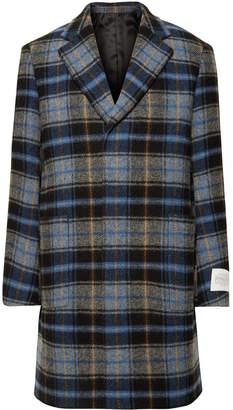 Calvin Klein + Pendleton Oversized Checked Virgin Wool Overcoat