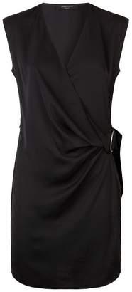 AllSaints Callie Wrap Mini Dress