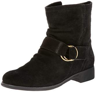 All Black ALL Women's Suede Ring Buckle