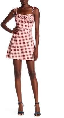 WAYF Gingham Corset Mini Dress