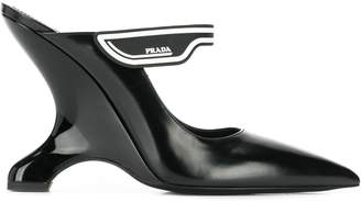 Prada structured wedge pumps