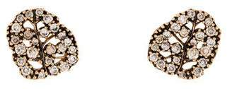 H.Stern 18K Diamond Natur Leaf Stud Earrings