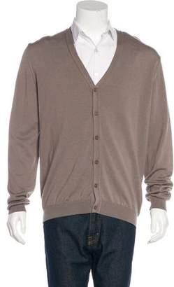 Calvin Klein Collection Wool V-Neck Cardigan